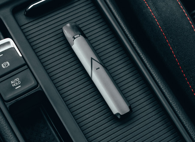 Lifestyle shot of the Hexa V2 in a car.
