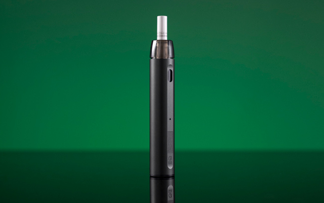 The Innokin FLTR pictured on a green background.