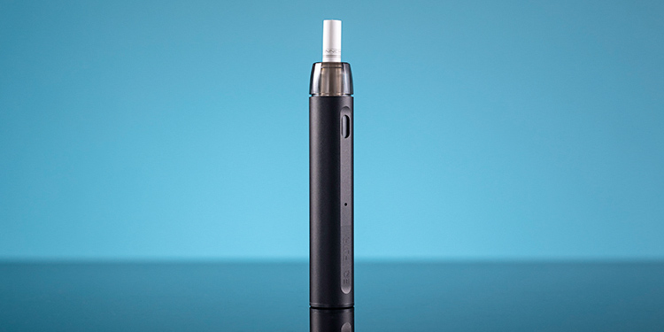 Innokin EQ FLTR stands on a blue background.