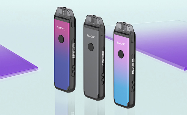 Smok Acro devices in different colours.
