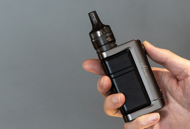 Eleaf iStick Power 2 mod and tank in hand.