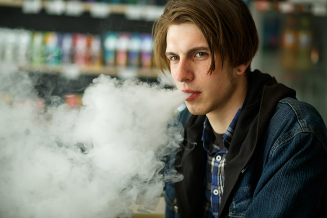 Direct Lung vaping - great in a vape shop.