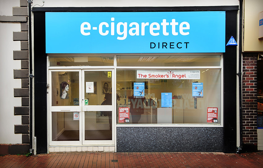An image of the front of the E-Cigarette Direct store in Neath.