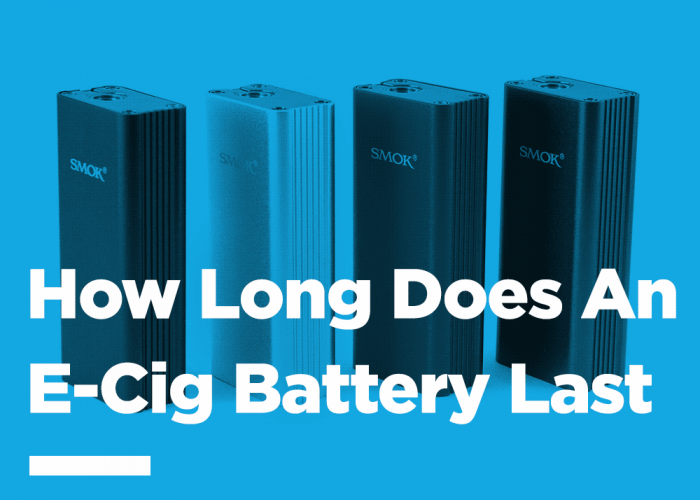 How long does an e-cig battery last