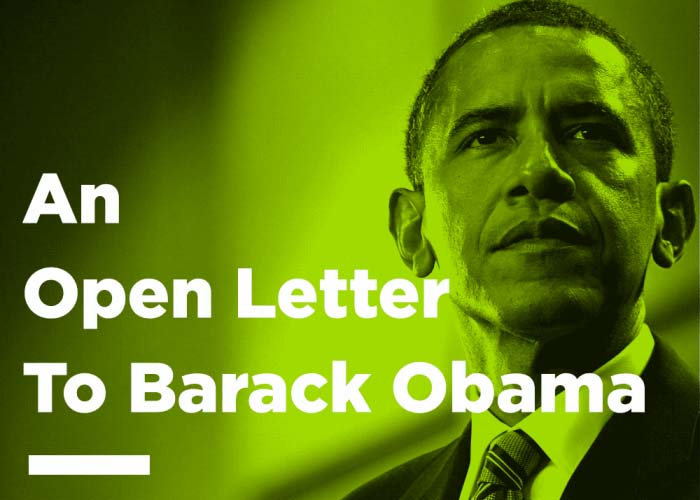 Open Letter to Barack Obama