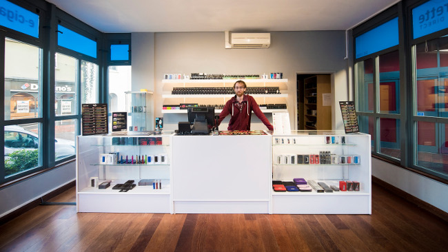 Sales manager Andrew in the new Abergevenny store.