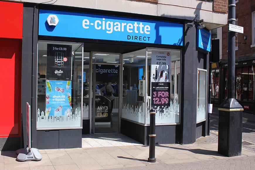 E-Cigarette Direct Worcester Store Front