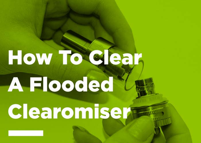 Image showing a clearomiser being taken apart to resolve flooding issue.