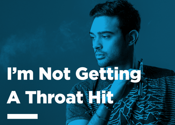 Not getting a throat hit e-cig