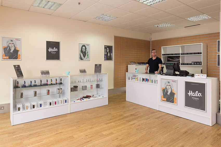 An internal shot of the E-Cigarette Direct store in Bridgwater.