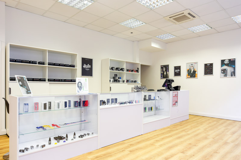 Inside ECigaretteDirect in Kidderminster.