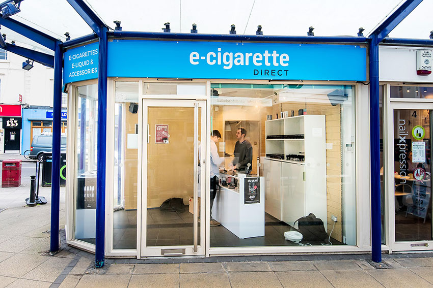 External view of the ECigaretteDirect store in Bristol.