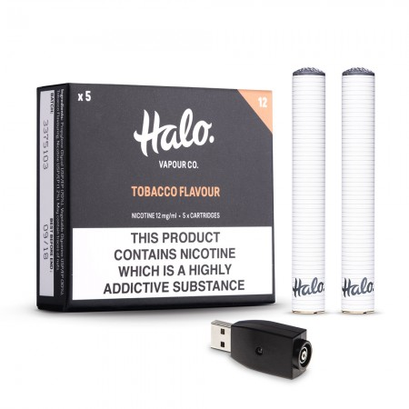 Halo Cigalike Bundle - Tobacco.
