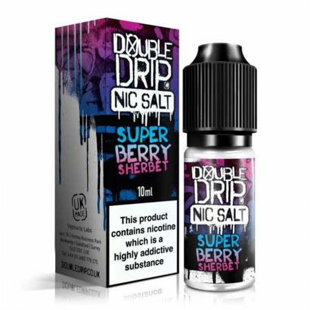 Superberry Sherbet Salt | Double Drip E-Liquid