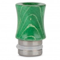 510 Stabilized Wood Drip Tip - Green