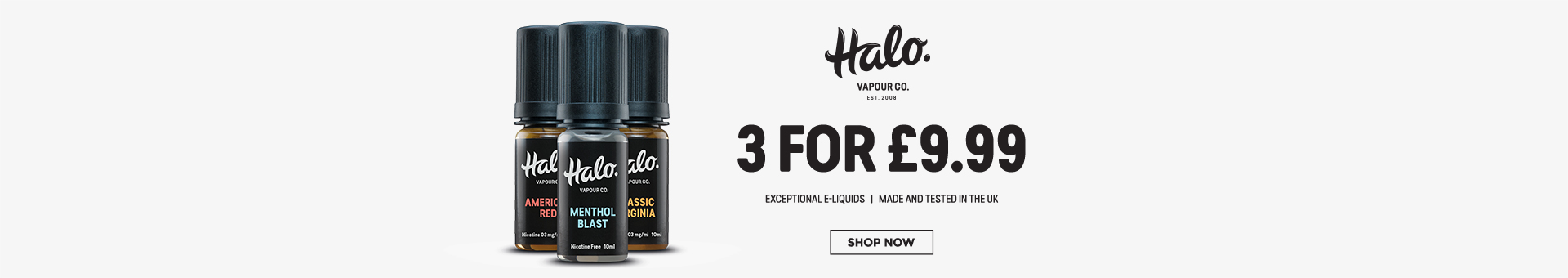 Halo UK made e-liquid 3 for £9.99
