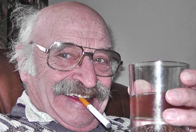 One of our customers with an electronic cigarette.